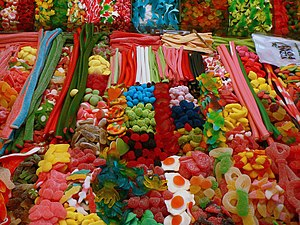 Gummi candy - Collection of gummy candies at a market