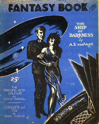"""A. E. van Vogt - van Vogt's """"Ship of Darkness"""" was the cover story in the second issue of Fantasy Book in 1948"""