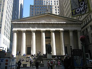National Register of Historic Places listings in Manhattan - Image: Federal Hall NYC1