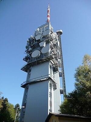 Mont Pèlerin TV Tower - Image: Fernsehturm Mont Pèlerin