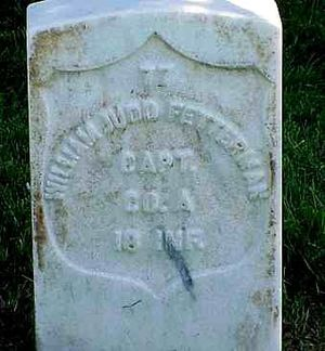 William J. Fetterman - William J. Fetterman's Headstone, Little Bighorn National Cemetery