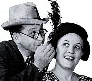 Fibber McGee and Molly - A character shot of Fibber and Molly, 1937.