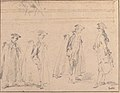 Figure Studies (recto); Figures Along a Canal and on a Bridge; to the right, a Curtain and a Stool (?) (verso) MET 1975.131.31 RECTO.jpg