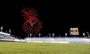 North Carolina FC - Sahlen's Stadium at WakeMed Soccer Park. Credit: Rob Kinnan- Carolina RailHawks