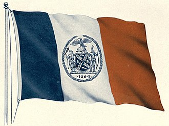Flags of New York City - The city's first official flag, 1915.