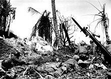 Amerykanie w wojnie na Pacyfiku wyjątkowo często używali miotaczy płomieni, co uzasadniała uporczywa obrona Japończyków w bunkrach i jaskiniach.