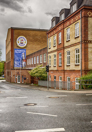Flensburger Brauerei - The building of the Flensburger Brauerei