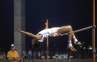 1981 Maccabiah Games - Israeli high jumping champion Gideon Harmat at the Games.