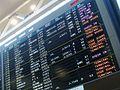 Flight information board, Narita Airport, Japan.JPG