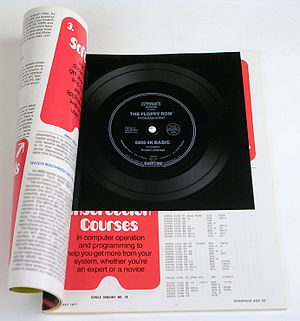 Kansas City standard - Interface Age magazine May 1977 issue, with a Kansas City standard flexi disc floppy ROM.