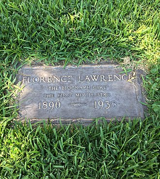 Florence Lawrence - Grave of Florence Lawrence at Hollywood Forever Cemetery