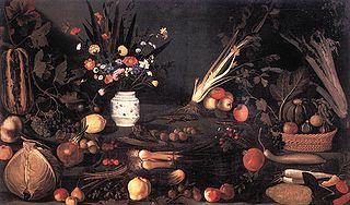 Nature morte aux fleurs et fruits