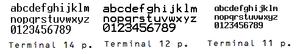 Terminal (typeface) - The font Terminal at various resolutions