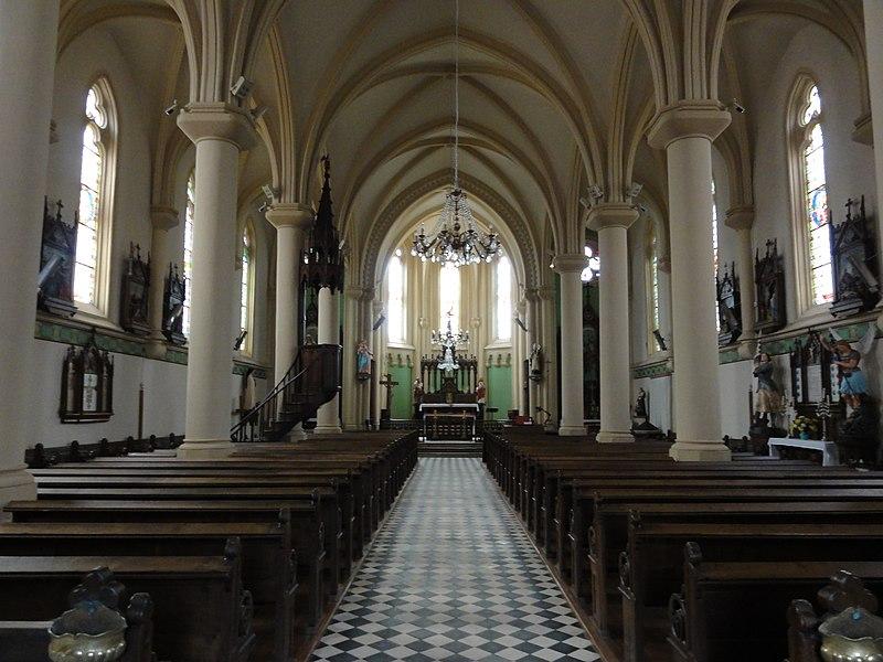 Fontenoy-la-Joûte (M-et-M) église, intérieur
