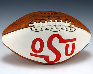 1976 Oklahoma State Cowboys football team - A football signed by the 1976 Oklahoma State Cowboys football team