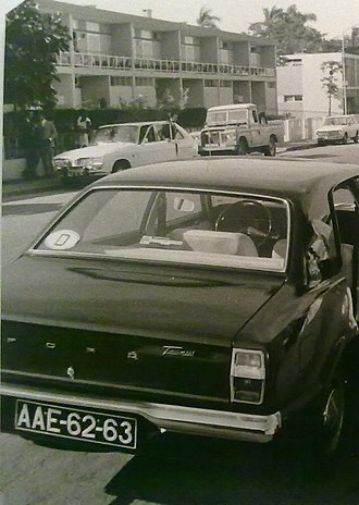 History of Angola - Ford Taunus in Angola, in 1972