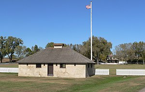 National Register of Historic Places listings in Valley County, Nebraska - Image: Fort Hartsuff guardhouse 1
