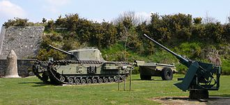 Battle for Brest - Fort Montbary today with a Churchill 'Crocodile'