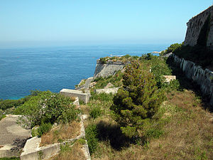 Portoferraio - View of the Medici fortifications.