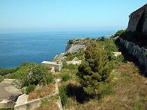 Portoferraio - View of the Medici fortifications.