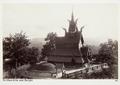Fotografi av en stavkyrka nära Bergen, Norge - Hallwylska museet - 105716.tif