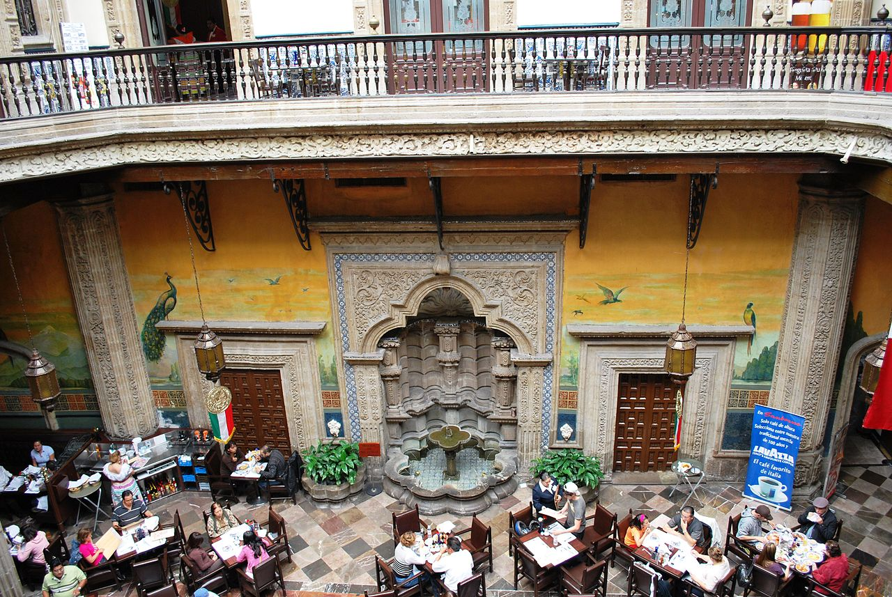 File fountainsideazulejos jpg wikimedia commons for Sanborns restaurant mexico