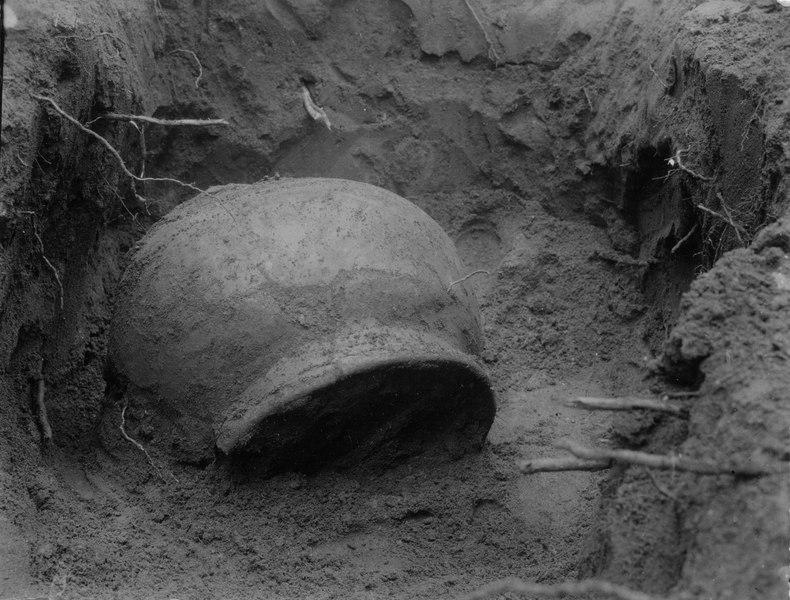 File:Från utgrävning av gravfält i en trädgård i La Gloria. Grav 2 - SMVK - 003447.tif