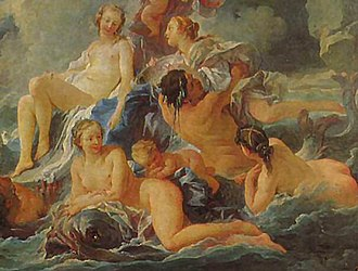 Ulla Winblad - Carl Michael Bellman sang of Ulla Winblad in Fredman's Epistle 25, which seems to depict a Rococo scene like François Boucher's 1740 Birth of Venus, which then hung in Drottningholm Palace, near Stockholm