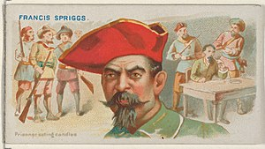 Francis Spriggs - Image: Francis Spriggs, Prisoner Eating Candles, from the Pirates of the Spanish Main series (N19) for Allen & Ginter Cigarettes MET DP835043