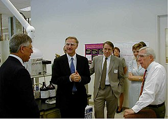 Asa Hutchinson - Hutchinson and United States Congressman Frank Wolf tour a DEA drug testing facility in Northern Virginia in 2001