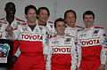 Frankie Muniz and company Toyota Grand Prix Celebrity Race 2011.jpg