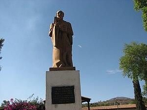 Alonso Gutiérrez - Fray Alonso de la Vera Cruz monument in Tiripetío, Michoacán.
