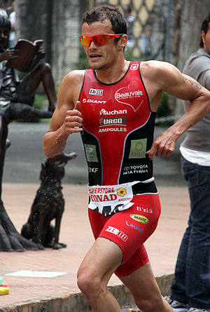 Frédéric Belaubre - Fred Belaubre winning gold at the FITRI Triathlon in Andora, 2010.