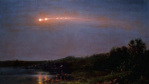 Earth-grazing fireball - Image: Frederic Church Meteor of 1860