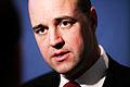 Fredrik Reinfeldt, statsminister Sverige, vid pressmote under Nordiska radets session i Kopenhamn 2006.jpg