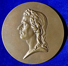 Medal by Stefan Schwartz [de] to his 100th Death Anniversary, after a sculpture of 1794 by Dannecker, Vienna 1905, obverse (Source: Wikimedia)