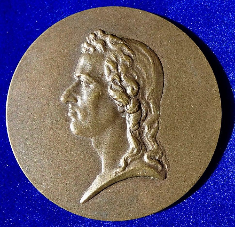 Friedrich Schiller, German Poet and Surgeon 100th Death Anniversary Medal Vienna 1905, obverse