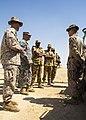From left, U.S. Marine Corps Lt. Col. Kevin Collins, the commanding officer of Combat Logistics Battalion 26, 26th Marine Expeditionary Unit (MEU); Army Maj. Gen. Robert Catalanotti; and Qatari Emiri Land Force 130429-M-HF949-005.jpg