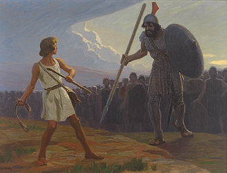 Eega - Rajamouli compared the battle between the fly and Sudeep with that between David and Goliath (pictured), saying that victories by underdogs matter.