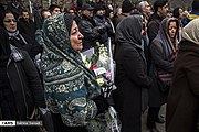 Funeral procession of victims of Ukrainian Boeing 737-800 plane crash in Sanandaj 2020-01-16 15.jpg