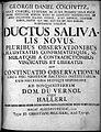 G. D. Coschwitz, Ductus salivalis novus... Wellcome L0022994.jpg