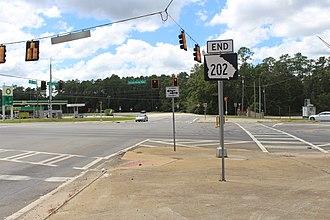 Georgia State Route 202 - SR 202 end, Thomas County