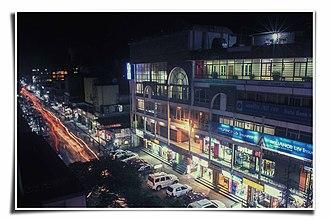 Tinsukia - A view of GNB Road and Ranghar Complex