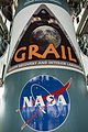 GRAIL mission logo on the first stage of the Delta II rocket.jpg