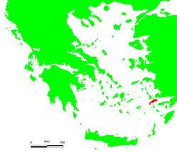 Isla de Cos en el mar Egeo