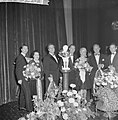 Galapremière van de zaak MP in het Tuschinskitheater te Amsterdam, v.l.n.r. Albe, Bestanddeelnr 911-6346.jpg