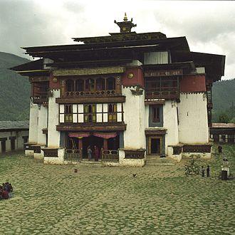 Gangteng Monastery - Gangteng Monastery in 2001 before renovation