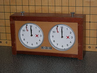 Chess clock - A typical analog chess clock