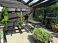 Garnon Bushes pub patio trellis, Coopersale, Epping, Essex, England.jpg
