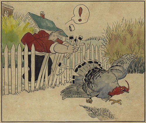 Gasoline Alley 1921 Walt trying to catch a turkey (panel 5).jpg